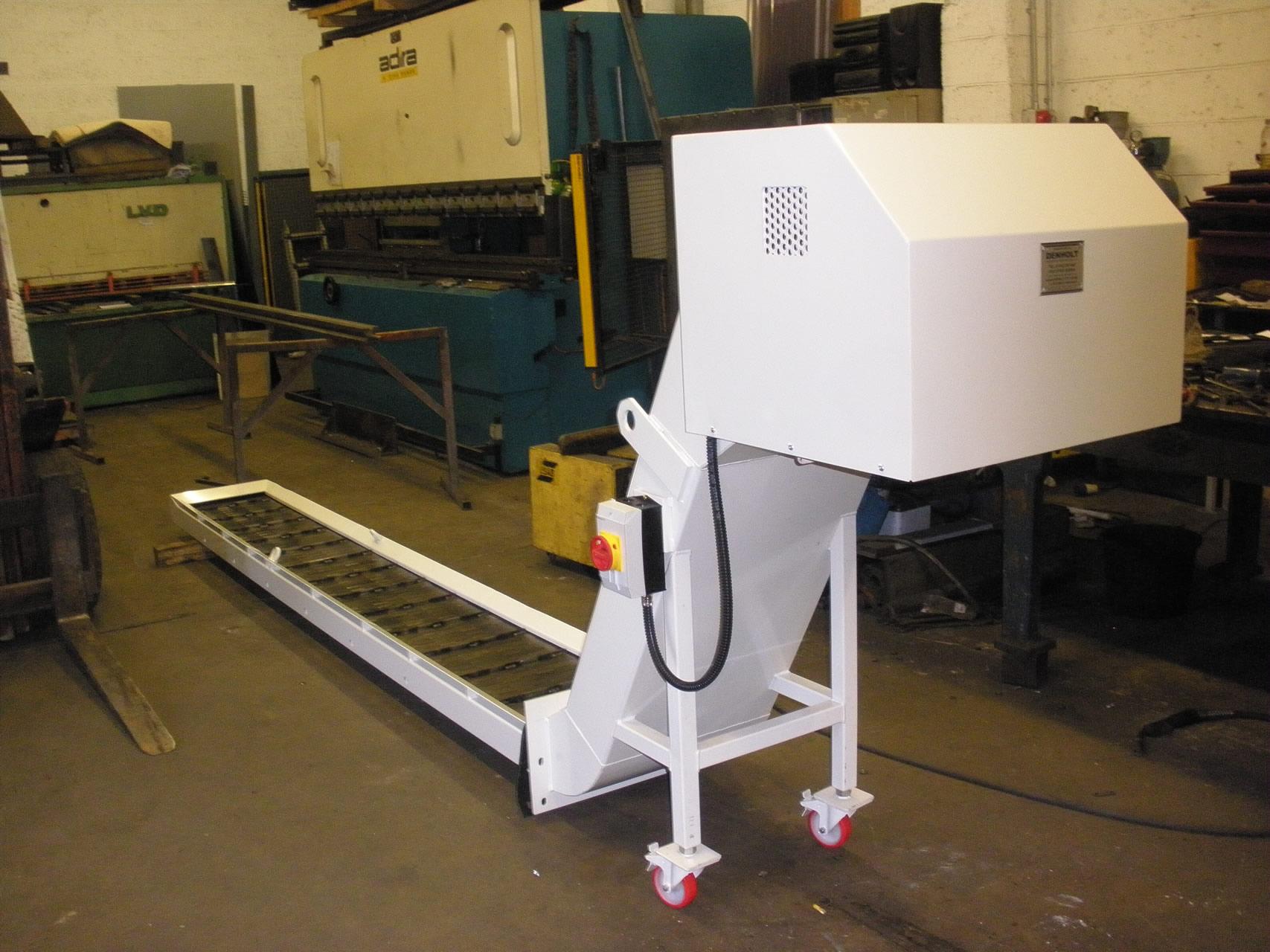 Swarf conveyor repairs after