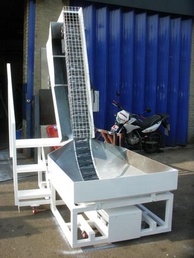 Custom Swarf conveyor finished